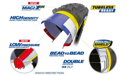 Neumático Michelin DH 34 Magi-XDH DownHill Shield Bead2Bead Tubeless Ready